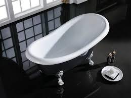 classical black slipper acrylic clawfoot bath tub with matt faucet