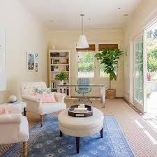 home office sitting room ideas. Long Office With Glass Top Desk And Goodman Hanging Lamp Home Sitting Room Ideas