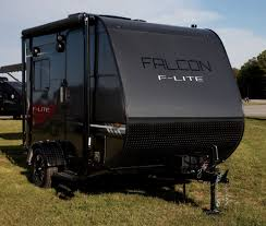 travel lite unveils new f lite trailers and falcon fire toy hauler