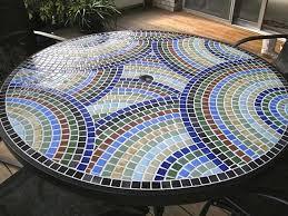 vidrepur nieblas recycled glass tile mesh backed sheet in fog navy blue