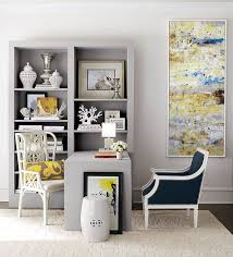 yellow office decor. Lovely Balance Between Traditional And Modern Styles Created By Home Office Décor [Design: Horchow Yellow Decor E