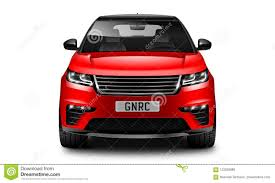 car white background front. Interesting Car Download Red Generic SUV Car On White Background Front View With Isolated  Path Stock Illustration  A