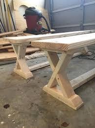 garden bench plans woodworking. diy x brace bench free easy plans wood garden park parts woodworking