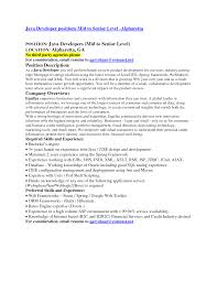 Resume Sample Responsibilities Of Java Developer In Resume Roles