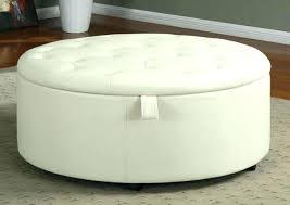 large round tufted ottoman storage coffee table traditional kitchen leather