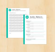 Resume Template Cover Letter The Ashley By Phdpress Design