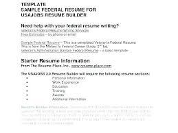 Australian Resume Builder Federal Job Resume Builder Smple Formt Federl At