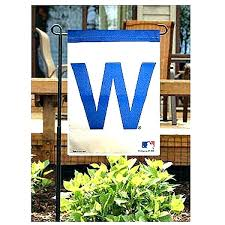 cubs garden flags your cub world series banners outdoor flagstones personalized chicago w flag