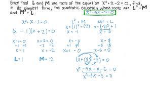 forming quadratic equations