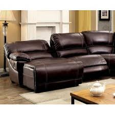 Furniture of America Modern Recliner Sectional Console L Shape Home