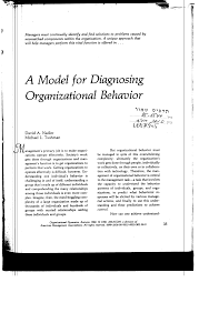 a model for diagnosing organizational behavior pdf a model for diagnosing organizational behavior pdf available