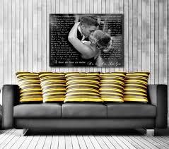 amazon song lyric art custom wedding canvas print with love story poem lyrics vows wedding song vows unique wall decor handmade on design your own wall art canvas with amazon song lyric art custom wedding canvas print with love