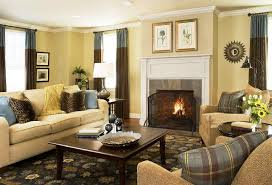 image of pale yellow walls living room