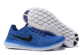 nike running shoes for men blue. mens nike free flyknit 5. 0 blue black white sneakers running shoes 831069 400 for men a