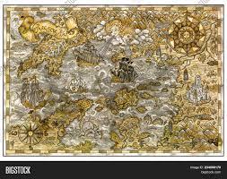 Pirate Treasures Map Image Photo Free Trial Bigstock