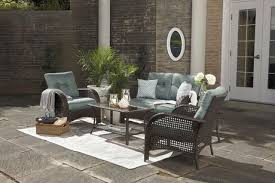 Hometrends Tuscany 4 Piece Cushioned Wicker Conversation Set Home