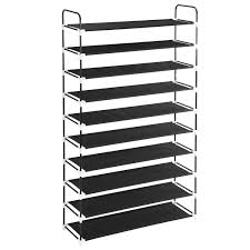 Space Saving Cabinet 10 Tiers Shoe Rack Maidmax 10 Shelf Nonwoven Space Saving Shoe
