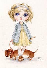 Инга Измайлова <b>такса</b> блайз девочка | Dachshund art, Cat art, Inga