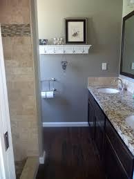 Hardwood Floor Bathroom The New Small Master Bathroom Dark Tile Floors That Look Like