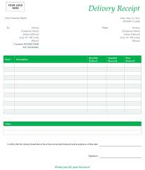 free receipt form free delivery receipt template