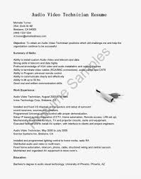av technician sample resume best ideas of audio visual technician