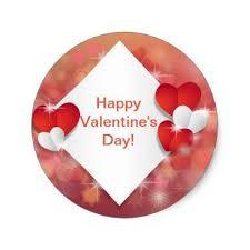 Valentines Day Gifts Interesting Happy Valentine's Day Name Classic Round Sticker Saint
