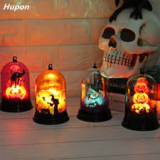 Diy Halloween Light Show Us 9 28 21 Off Festival Led Lights For Halloween Decorations Pumpkin Ghost Bat In A Glass Dome For Home Diy Hanging Led Party Supplies 4 Styles In