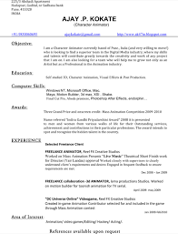 3d Animator Resumes Download Animator Resume Templates For Free Formtemplate