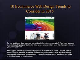 Professional Web Design Techniques 10 Ecommerce Web Design Trends Of 2016 By Tonytemplates Issuu