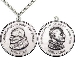 sterling silver st pope john paul ii and st john iii pendant necklace rosarycard net