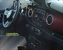 2018 jeep rubicon interior. delighful interior spy shot  2018 jeep wrangler jl dashboard throughout jeep rubicon interior j