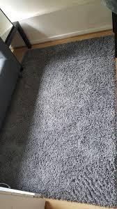 grey ikea hampen rug high pile