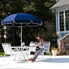 7 5 ft frankford acrylic fiberglass patio umbrella with valance patio umbrellas beach com