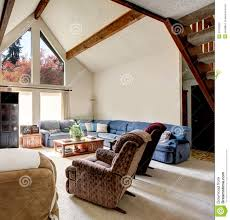 comfortable big living room living. Big Log Cabin Style Living Room With Rocky Wall Design Comfortable N