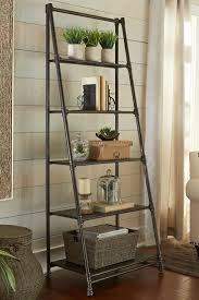 Contemporary Shelf Ideas Contemporary Wall Decorating With Leaning Shelves Design