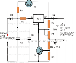 make this voltage stabilizer circuit for your car electronic parts list