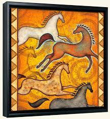 southwest horse 6 canvas art print
