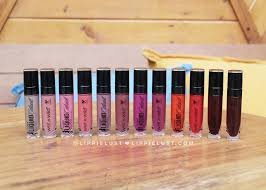 swatched wet n wild megalast liquid catsuit matte lipstick all shades