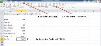 Breakeven Analysis With Excel Using Goal Seek Method In This ...