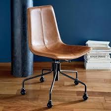 west elm office chair. West Elm Office Chair Slope Leather Swivel Regarding Attractive House Desk . C