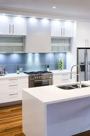 glass splashback colours for white kitchen western suburbs