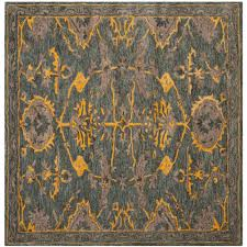 safavieh bella blue gray gold 5 ft x 5 ft square area rug