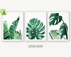 palm leaf wall art etsy