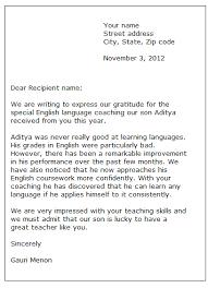 Sample Of A Thank You Letter Sample Thank You Letter Formal Letter Samples