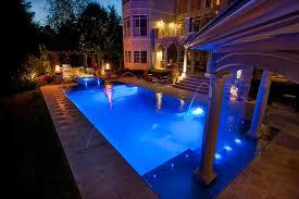 swimming pool lighting options. Swimming Pool Night Shot Perimeter Overflow Lighting Options