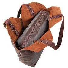 designer vintage handmade leather tote bag top