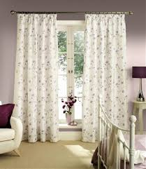 bedroom window curtains white