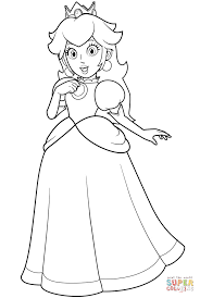 Small Picture Pretty Princess Peach coloring page Free Printable Coloring Pages