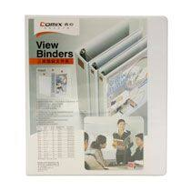 Comix Ring Binder 3 Ring A238 A4 3in D Type White