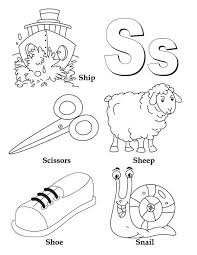 Small Picture Learn Upper and Lower Case of Letter S Coloring Page Learn Upper